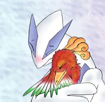 Lugia's hug by pokemony