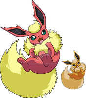 136 - Flareon - Art v.4 by Tails19950
