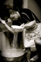 Making Noodles by sharon8D