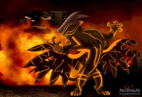 By The Tallons Of Gilda's Fire by MetaDragonArt