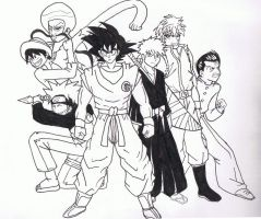 Band of Heroes, shonen jump fan art by AnimationsByRobert