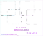 Thin Line Borders by Foxxie-Chan