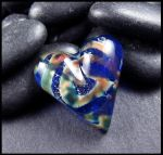 Heart Universe - Glass Cabochon by andromeda