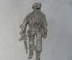 Call of Duty Soldier by Zarzill