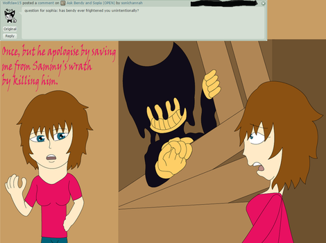 Ask Bendy and Sopia QA 1 by sonichannah