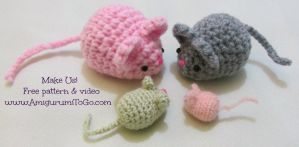 Crochet Mouse Free Pattern by sojala