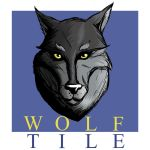 Wolf Tile Logo by bmosley45