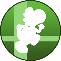 Super Smash Bros Yoshi Button by SweetTextArt