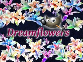 Dreamflowers GIMP-Brush by Chrisdesign