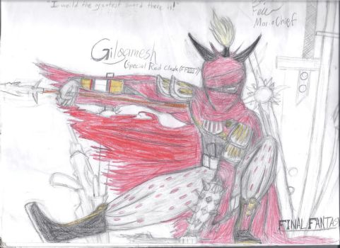 Gilgamesh - Special Red Cloak by MarioChief