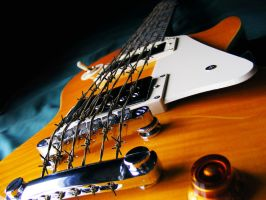 Barbed Wire Guitar by MechaTwiggy