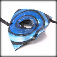 Starry Night, Leather Mask by pilgrimagedesign