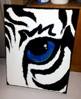 Eye of the White Tiger by kittykinetic
