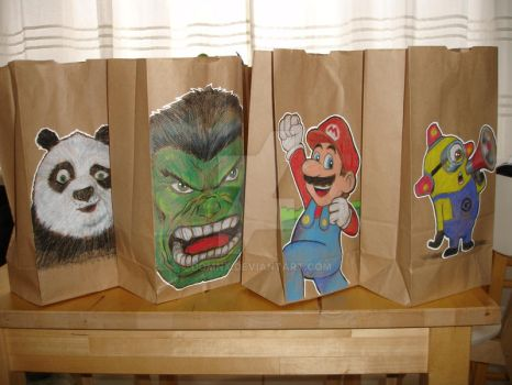 Lunch Bag Art by DomNX