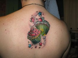Cupcakes Tattoo by AingelCakes