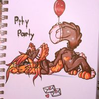 Elli's Pity party  by MoonlightMalaise