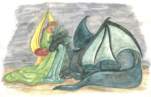 The princess and the Dragon by landesfes