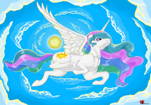 Celestia On Break In MS Paint by mlpdarksparx