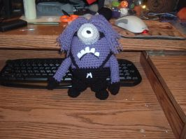 Purple Minion crochet by Nanettew9