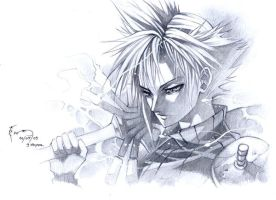 Cloud Strife: Melancholic by Nick-Ian