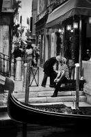 Gondolier Love by justinblackphotos