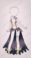 Ruby Black Outfit Auction[CLOSE] by SpringPeachAdopts