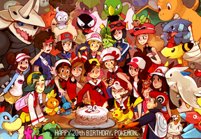 Happy 20th Birthday, Pokemon! by KayVeeDee