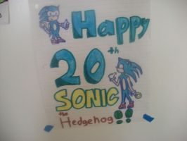 Happy 20th Sonic The Hedgehog by BladerGirl101