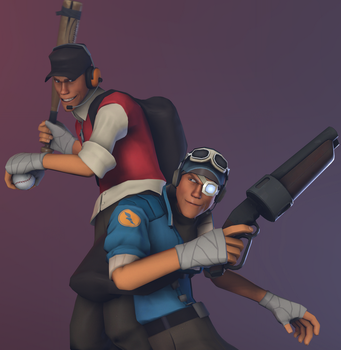 [SFM]Side by side (request) by Happich