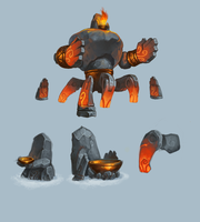 Fire golem by Gimaldinov