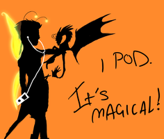 Magical iPod by DragonBlueflame