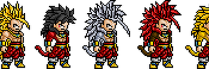 The Legendary Super Saiyan sprites by BLZofOZZ