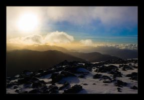 Sunset on the ben by moinerus