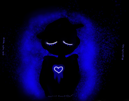 Heart of Blues (Full Background version) by MinorasPatchworkArt