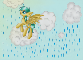 Collab: Raindrops in the clouds . by Acridie