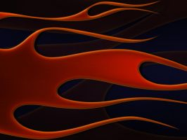 flames - copper and blue by jbensch