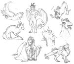 'Nother load of sketches by LhuneArt