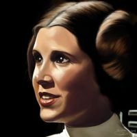 Digital Painting: Princess Leia by skARTistic