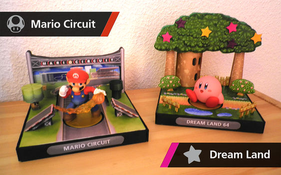 Amiibo Displays stands - Super Smash Bros. Stage by NBros
