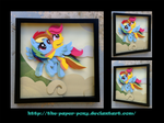 Commission: Rainbow Dash and Scootaloo Shadowbox by The-Paper-Pony