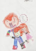 Chucky does not like hugs by Twisted-G