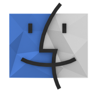 Low-Poly Finder Icon by BenWurth