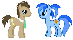 Doctor Whooves and Blazing Star by LR-Studios