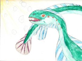 Blue Green Sea Monster by shastasnow