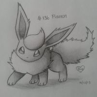 #136 Flareon by Bluekiss131