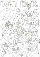 Don't Panic - Uncoloured by Fosterpython
