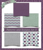 Patterns and Textures Set 3 by ibjennyjenny