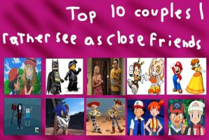 Friends, not Couples in my Opinion by mariosonicfan16