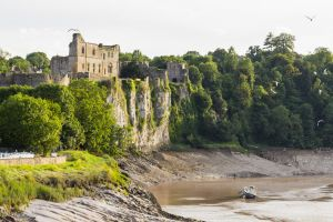 Chepstow Castle and the river Wye by CyclicalCore