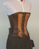 Steampunk copper corset by LillysWorkshop